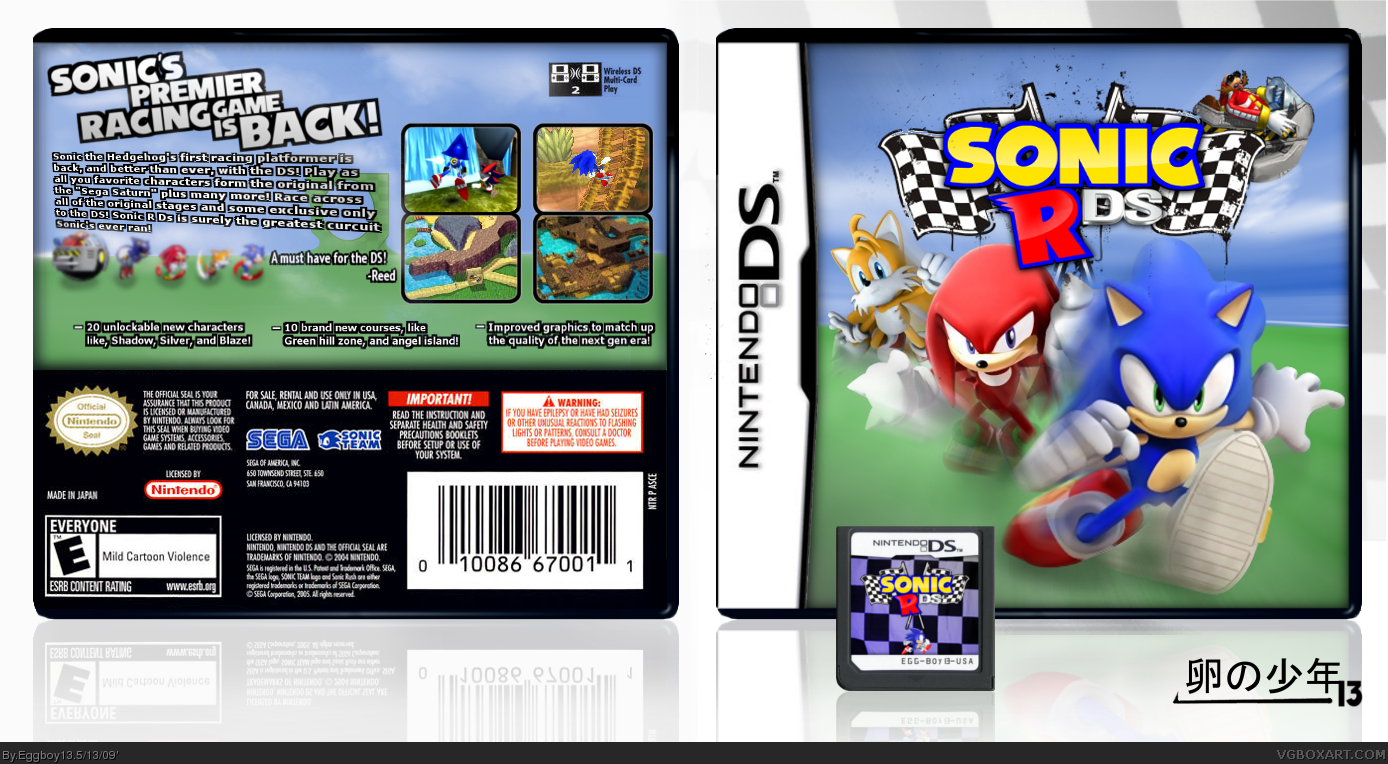 Sonic R Ds Nintendo Ds Box Art Cover By Eggboy 13
