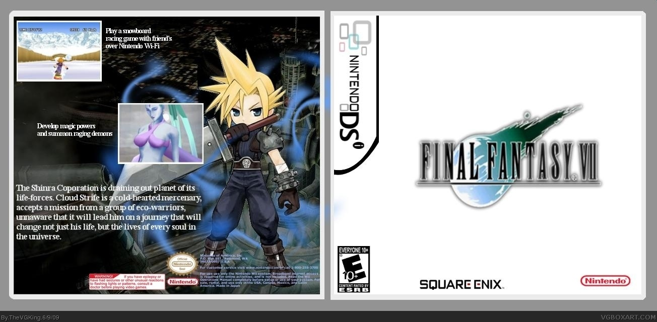 Final Fantasy Vii Nintendo Ds Box Art Cover By Thevgking