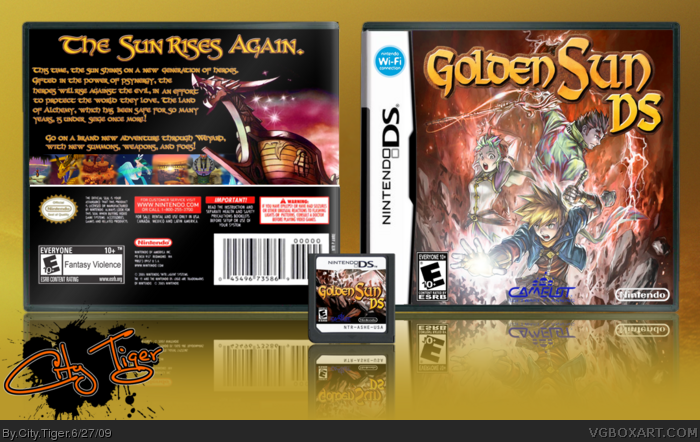Nintendo DS » Golden Sun DS Box Cover