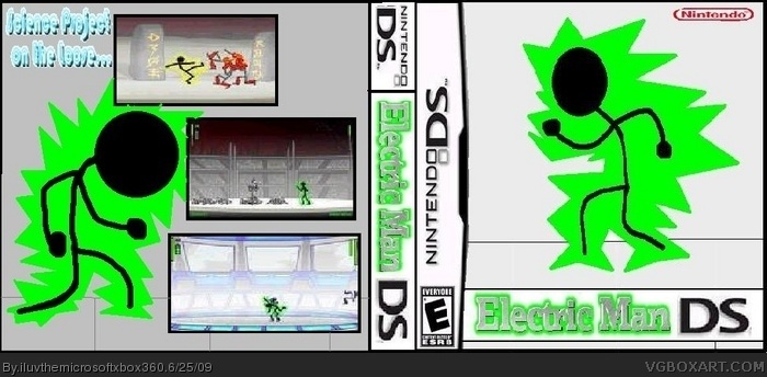 electric man ds nintendo ds box art cover by iluvthemicrosoftxbox360