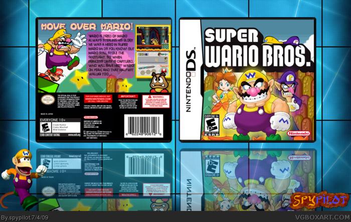 Nintendo DS » Super Wario Bros. Box Cover