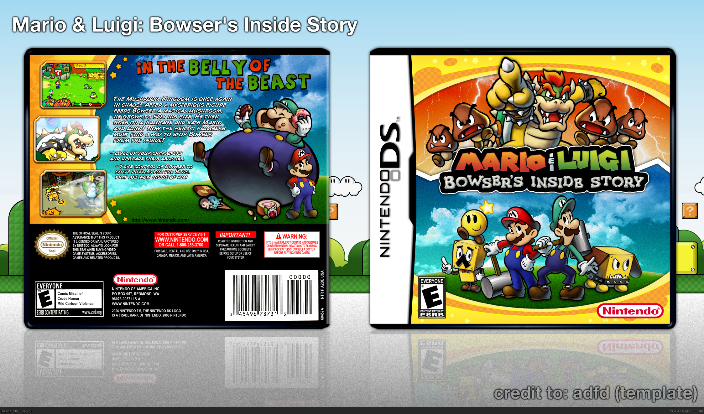 Viewing Full Size Mario Luigi Bowser S Inside Story Box Cover