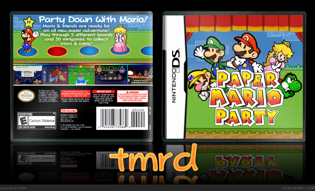 paper mario party nintendo ds box art cover by tmrd
