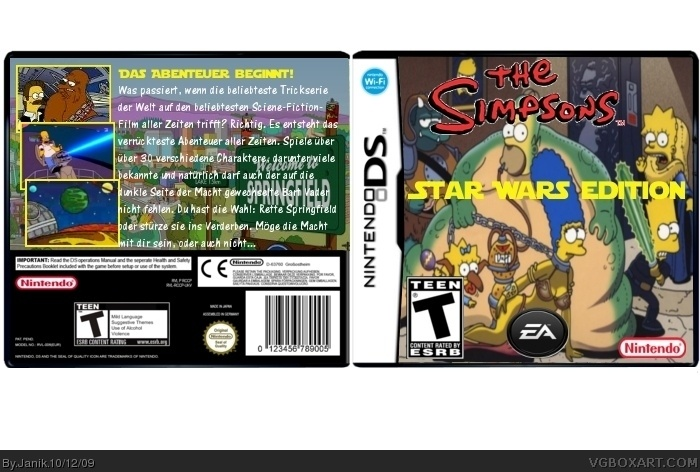 Nintendo DS » The Simpsons Star Wars Edition Box Cover