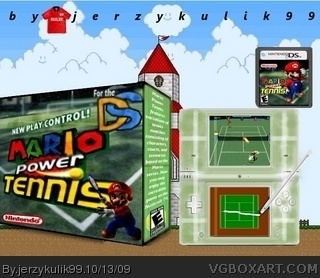 Mario Power Tennis DS box cover