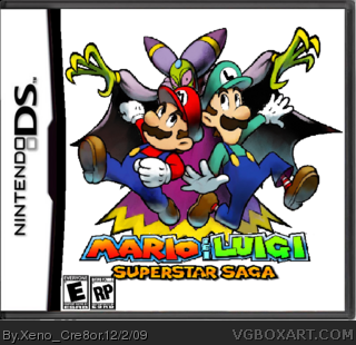 Mario Luigi Superstar Saga Nintendo Ds Box Art Cover By