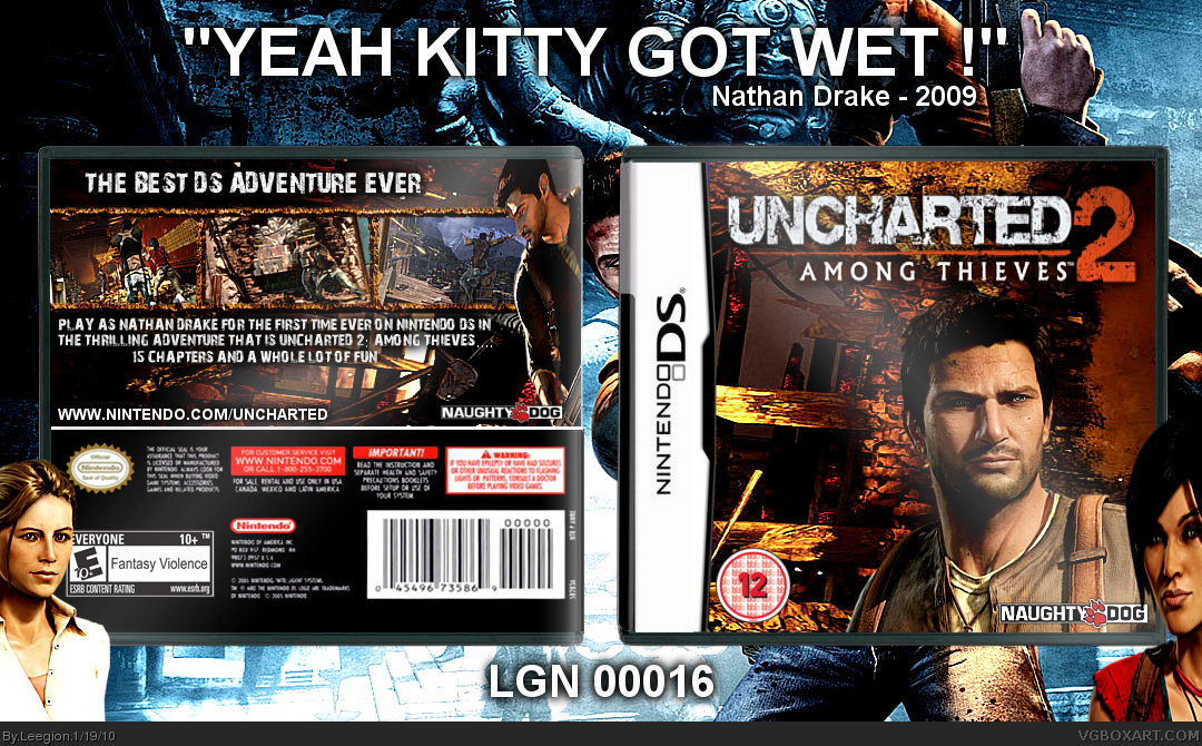 Uncharted 2: Among Thieves Nintendo DS Box Art Cover by ...Uncharted 2 Among Thieves Cover