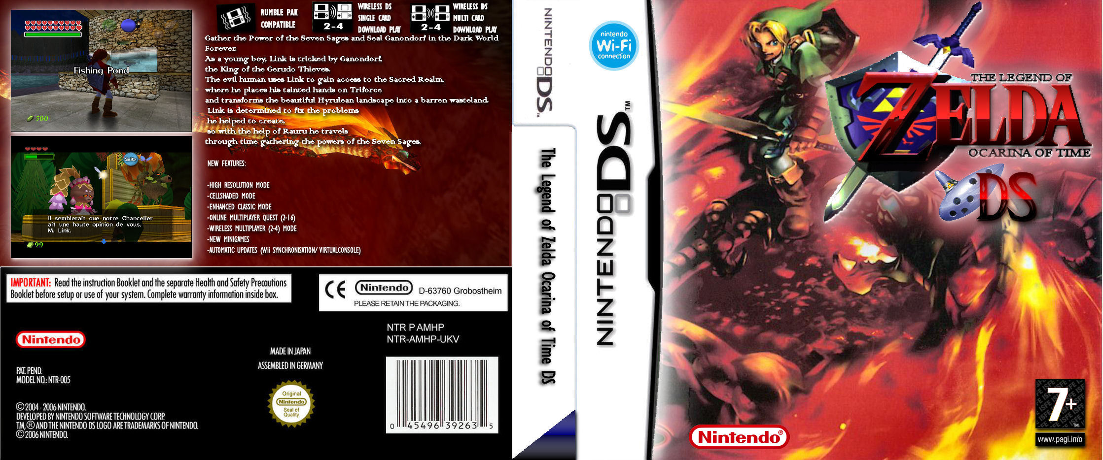 The Legend of Zelda: Ocarina of Time DS Nintendo DS Box Art