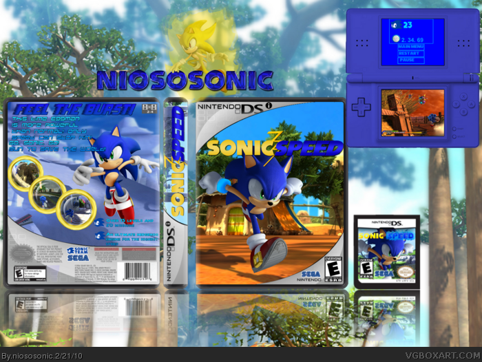 Sonic Speed box art cover