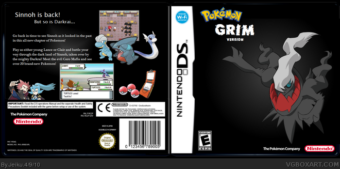 Pokemon Grim Version box art cover