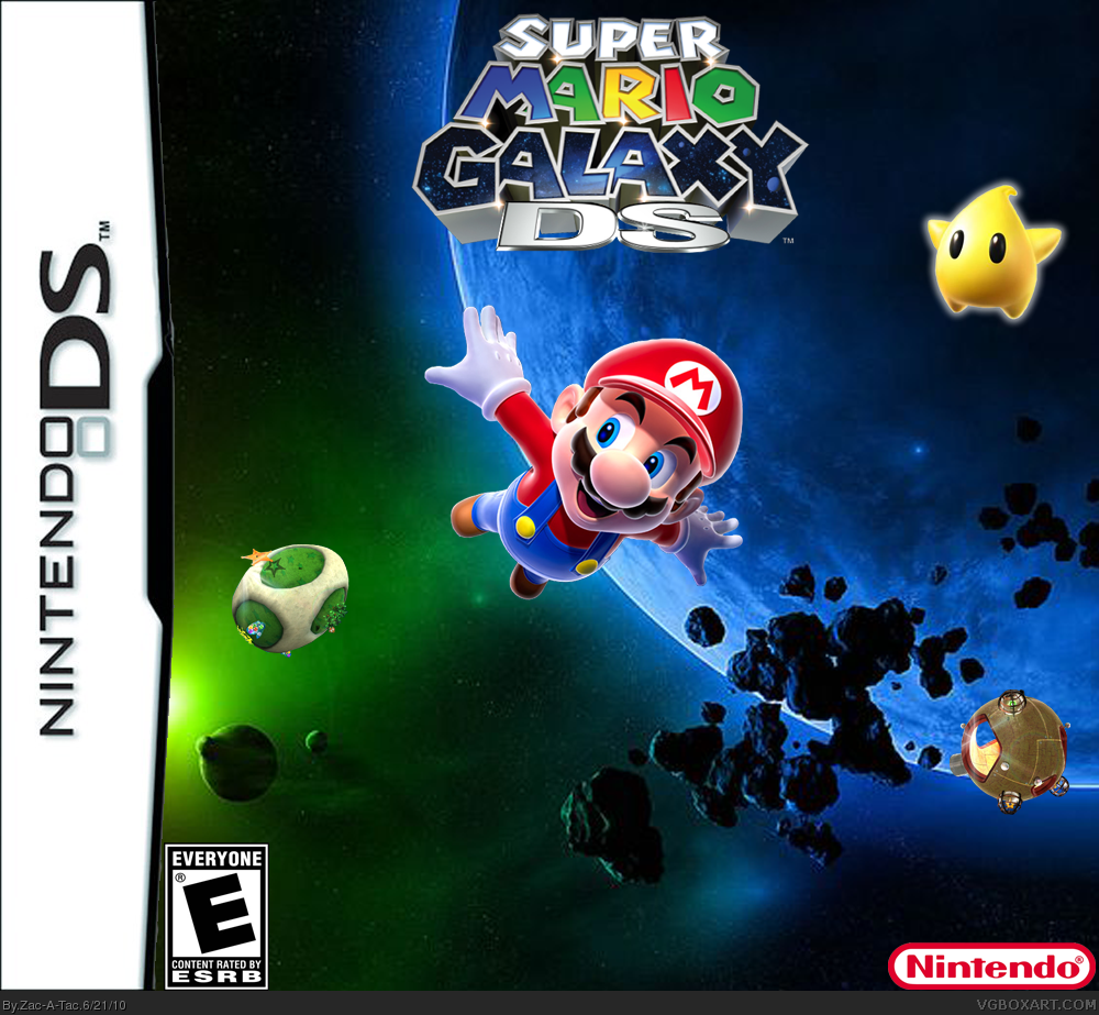 Super Mario Galaxy DS box cover