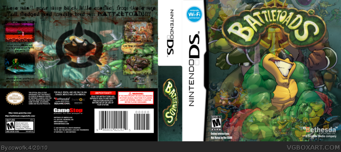 Nintendo DS » Battle Toads Box Cover