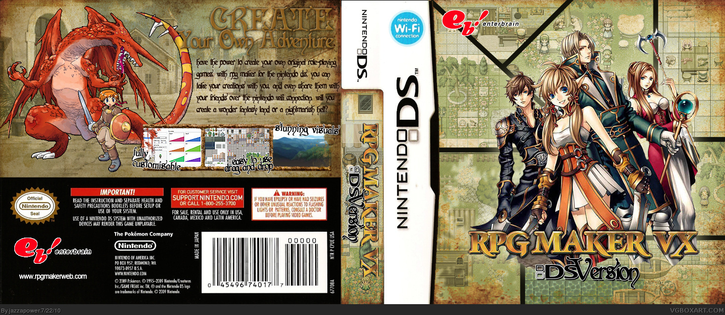 Nintendo DS » RPG Maker DS Box Cover