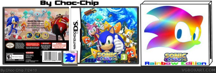 Sonic Colours box art cover