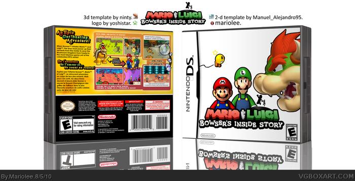 Mario Luigi Bowser S Inside Story Nintendo Ds Box Art