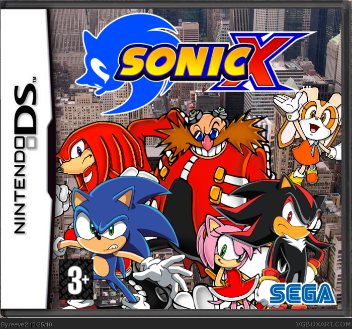 Sonic X Nintendo Ds Box Art Cover By Reeve2