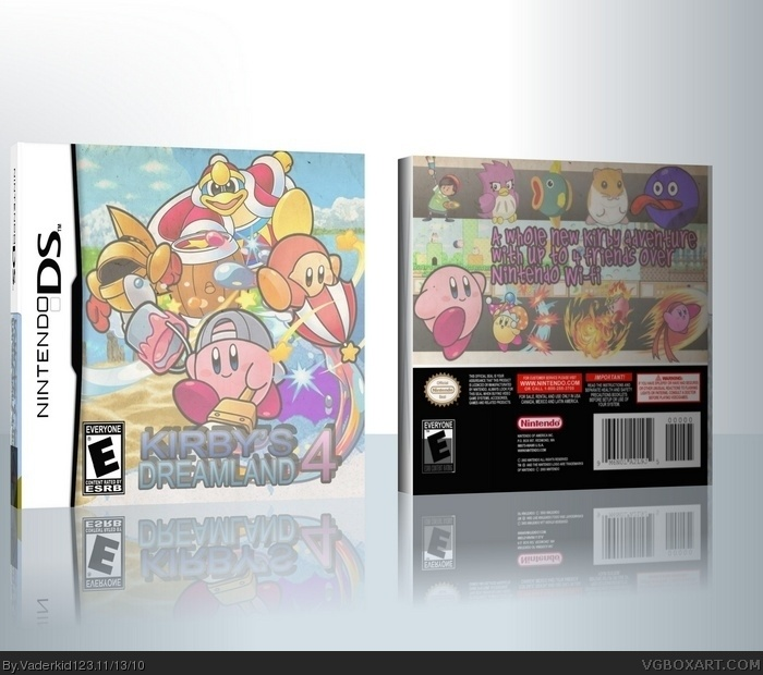 Kirby's Dreamland 4 box art cover