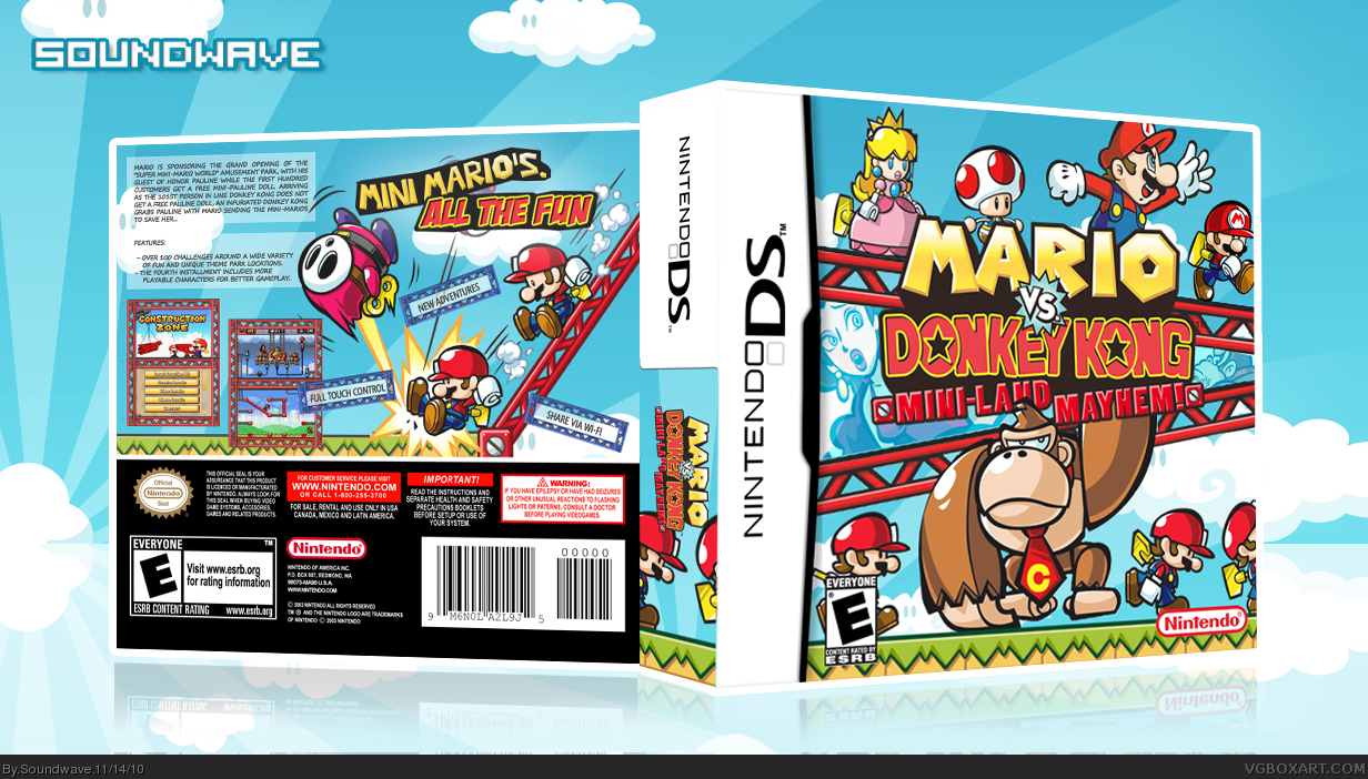 Genesis 38 8 >> Mario vs. Donkey Kong: Mini-Land Mayhem Nintendo DS Box Art Cover by Soundwave