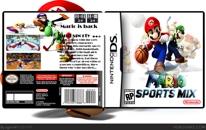 mario sports mix nintendo ds box art cover by agent471. Black Bedroom Furniture Sets. Home Design Ideas