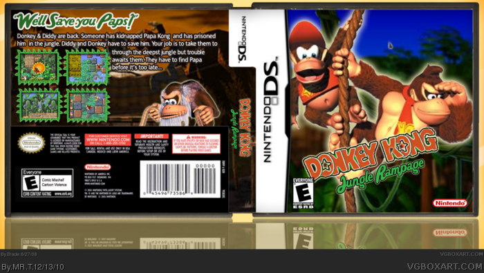 Donkey Kong in Jungle Rampage box art cover
