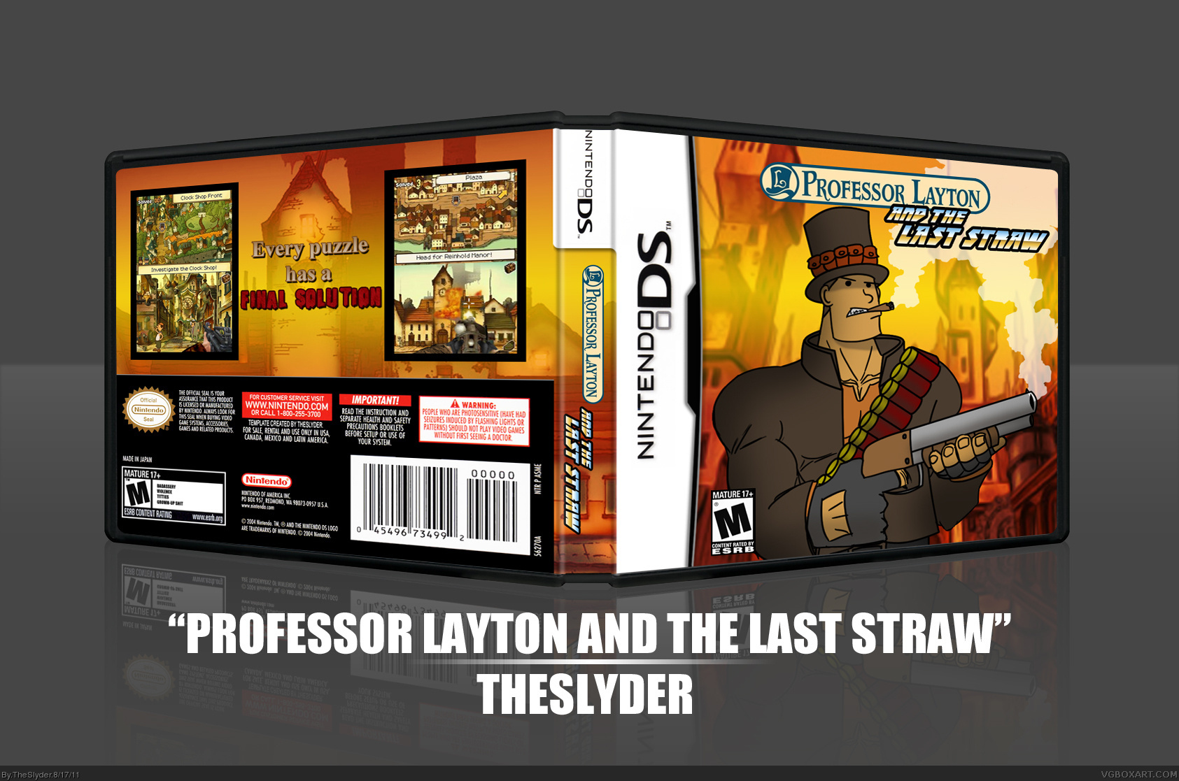 Professor Layton and the Last Straw box cover