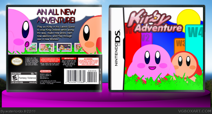 Kirby Adventure box art cover