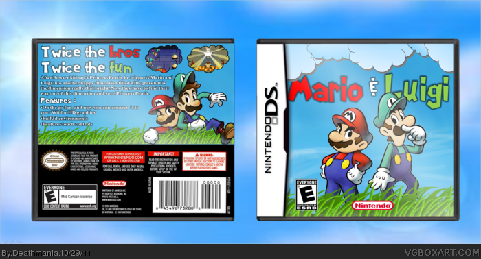Mario & Luigi box art cover