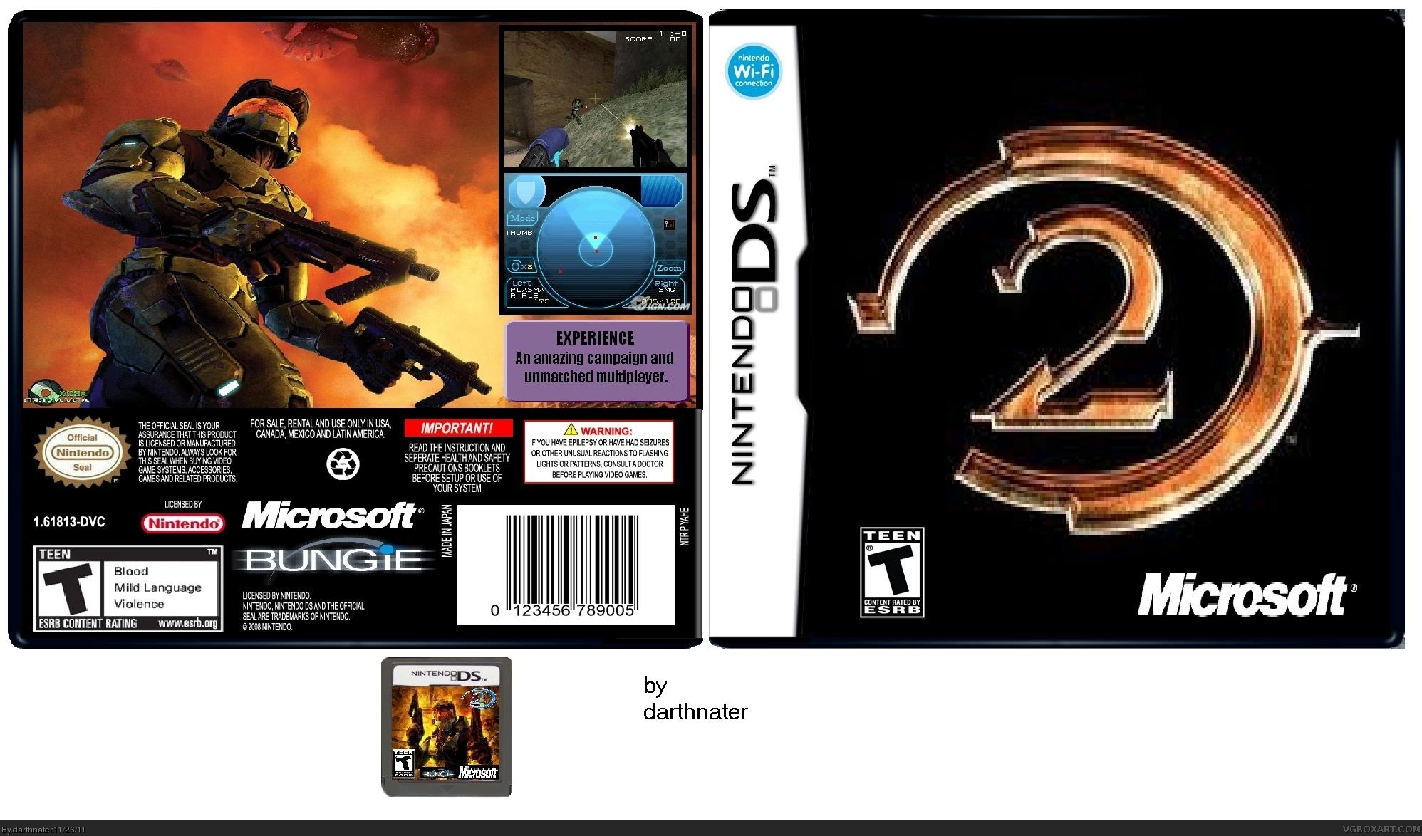 Halo 2 Nintendo Ds Box Art Cover By Darthnater