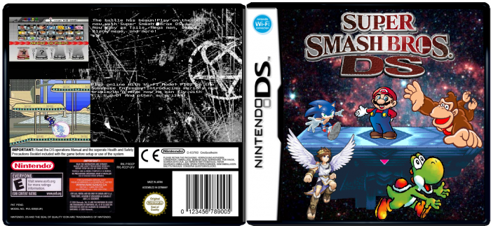 Super Smash Bros Ds box art cover
