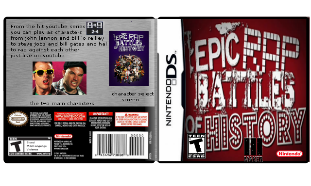 Epic Rap Battles of History The Game box cover