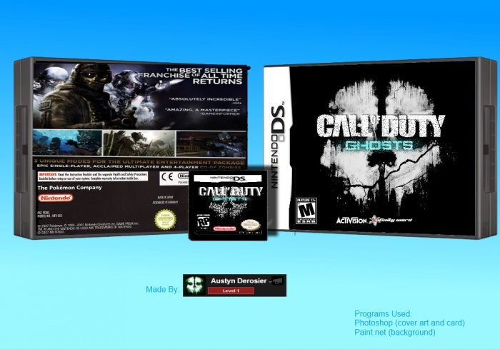 Call Of Duty 2 3ds : Call of duty ghosts nintendo ds box art cover by austyn