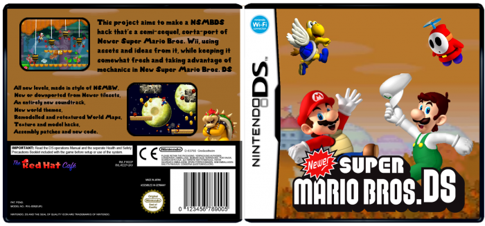 Newer Super Mario Bros Ds Nintendo Ds Box Art Cover By Mayro