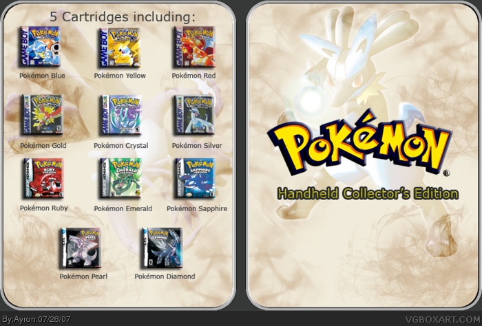Pokemon Handheld Collector's edition box art cover