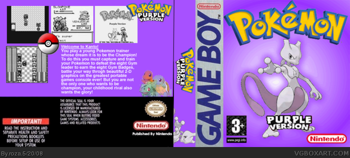 Game Boy » Pokemon: Purple Version Box Cover
