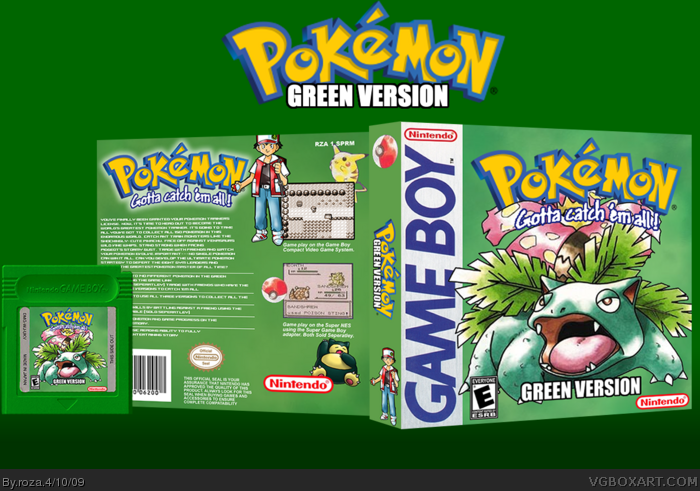 Game Boy » Pokemon Green Version Box Cover