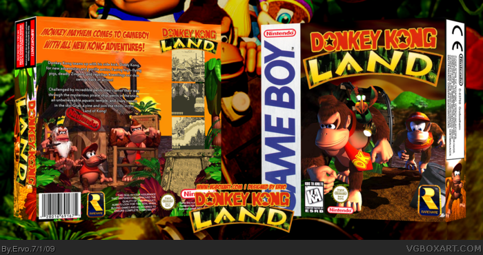 Donkey Kong Land box art cover