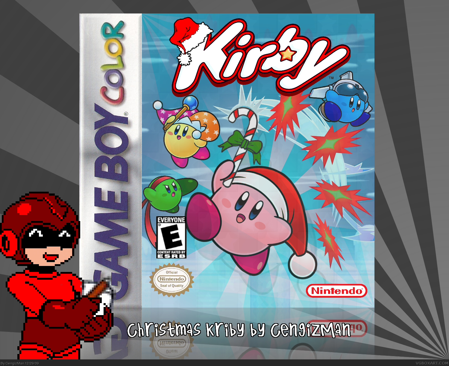 Viewing full size Christmas Kirby box cover