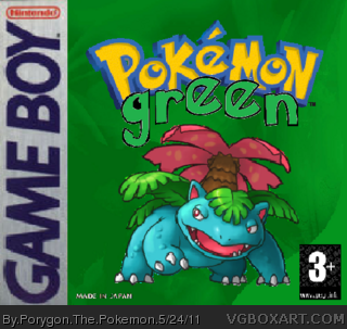 Pokemon Green Version box cover