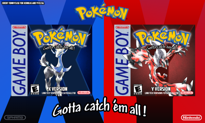 Pokemon X and Y Demake box art cover