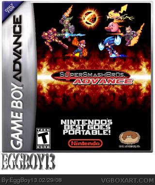 Super Smash Brothers Advance box cover