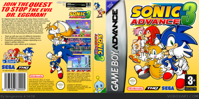 Sonic Advance 3 box art cover