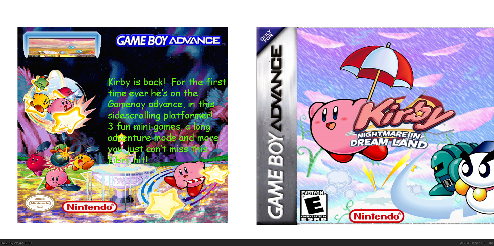 Kirby Nightmare in Dream Land box cover