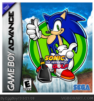 Sonic The Hedgehog Golf box cover