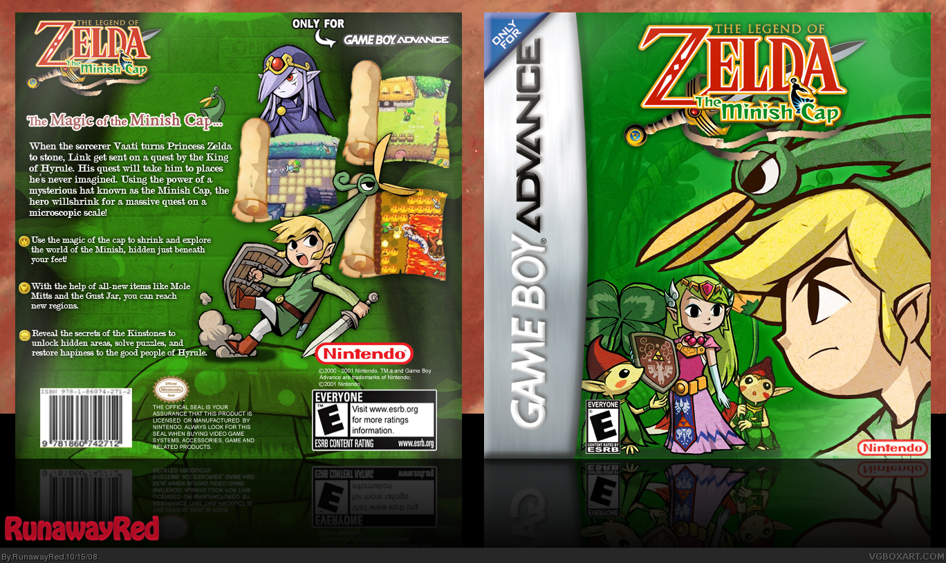 The Legend of Zelda: The Minish Cap box cover