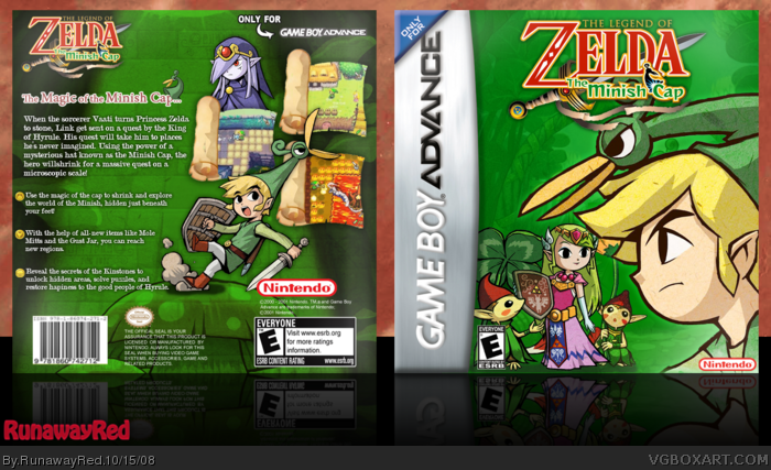 The Legend of Zelda: The Minish Cap box art cover