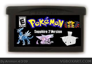 Pokemon Sapphire 2 Game Boy Advance Box Art Cover by Animon