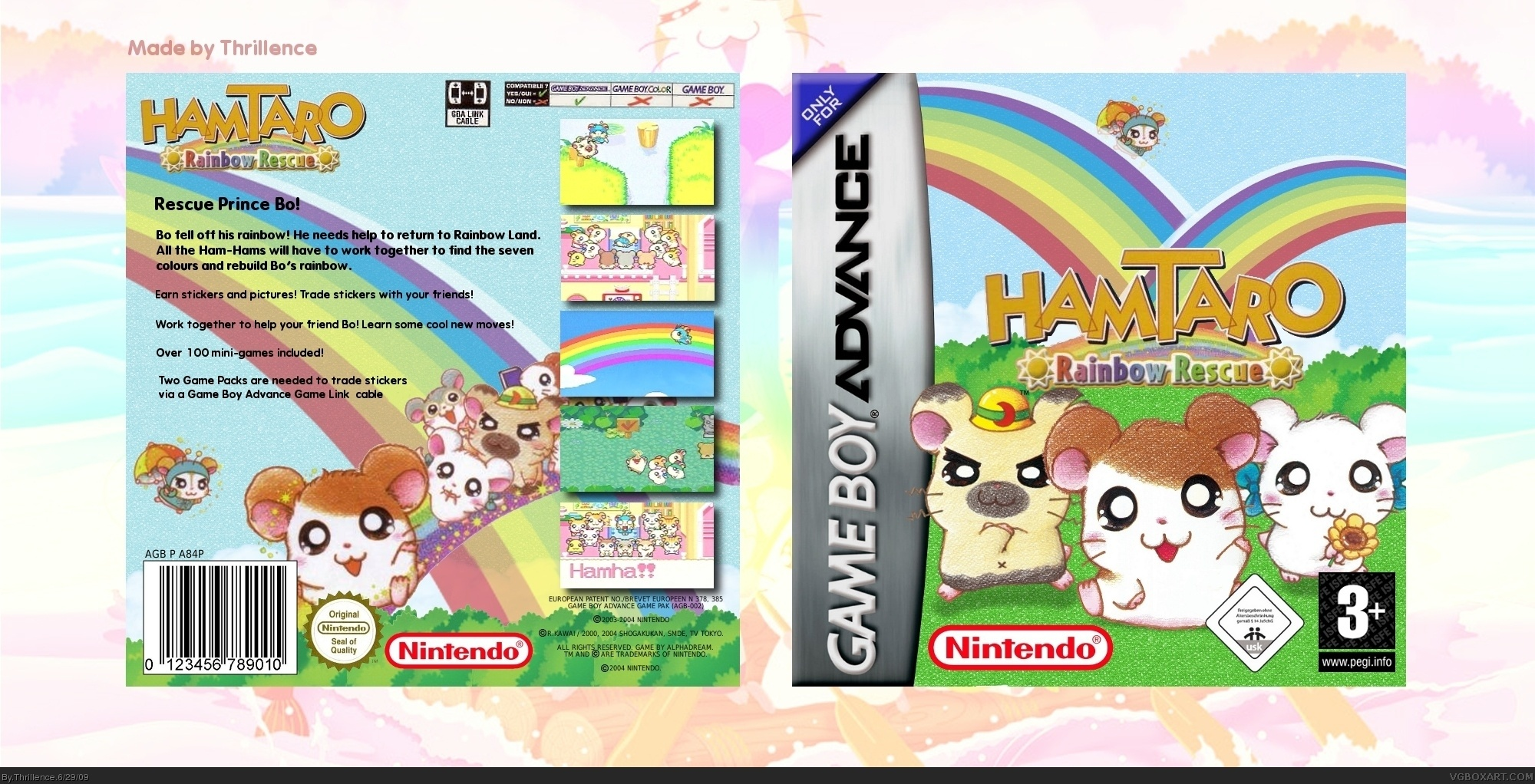 Hamtaro: Rainbow Rescue box cover