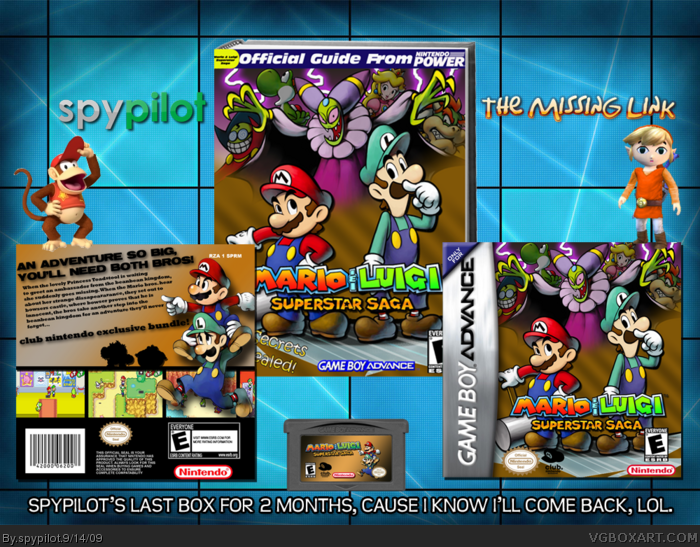Mario Luigi Superstar Saga Game Boy Advance Box Art Cover By