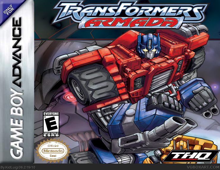 Transformers Armada box cover