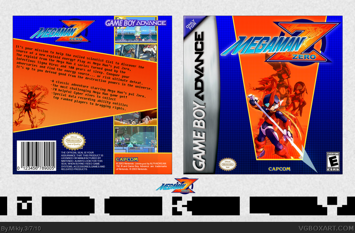 Megaman Zero box art cover